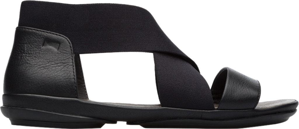 Women's Camper Right Nina Ankle Strap Sandal, Black Calfskin/Elastic, large, image 2
