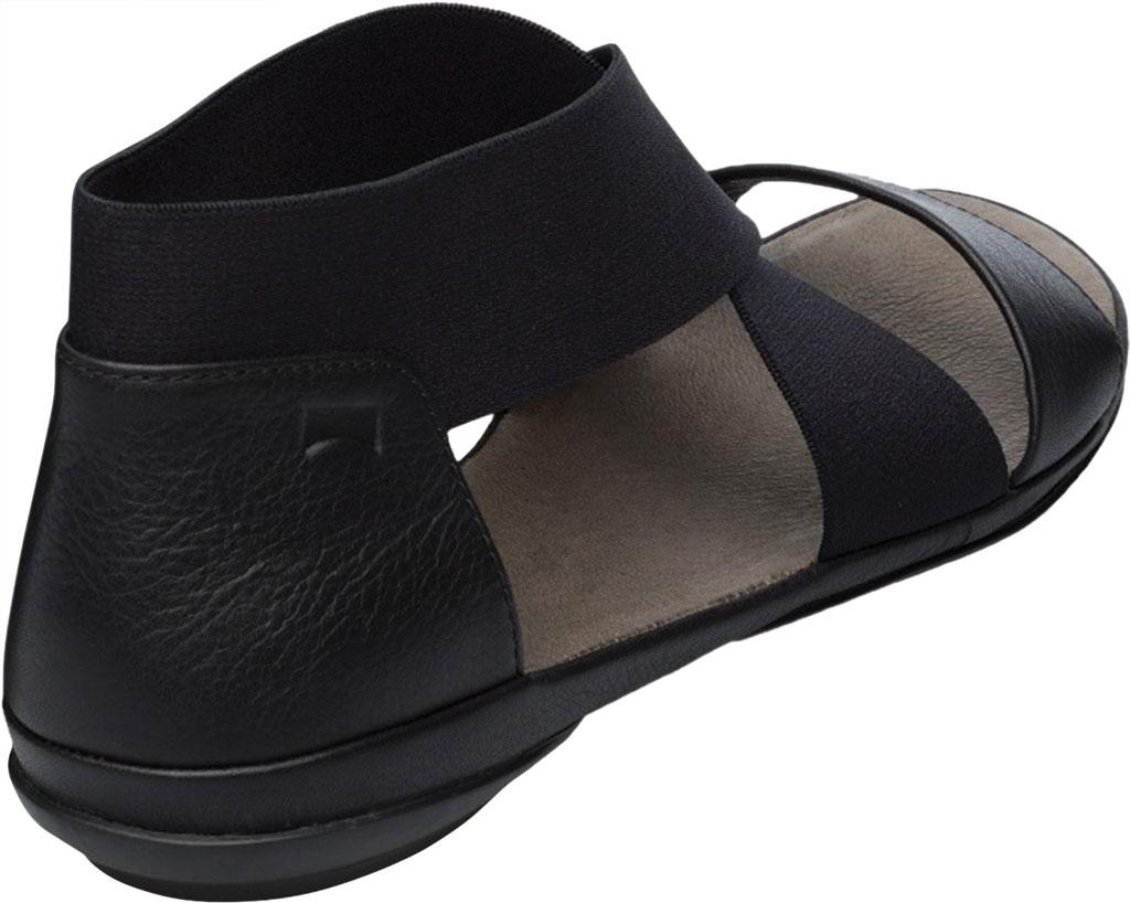 Women's Camper Right Nina Ankle Strap Sandal, Black Calfskin/Elastic, large, image 3