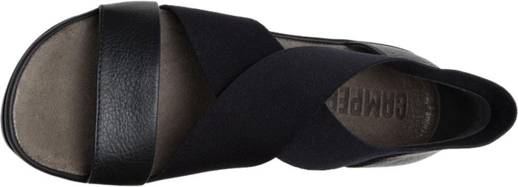 Women's Camper Right Nina Ankle Strap Sandal, Black Calfskin/Elastic, large, image 4