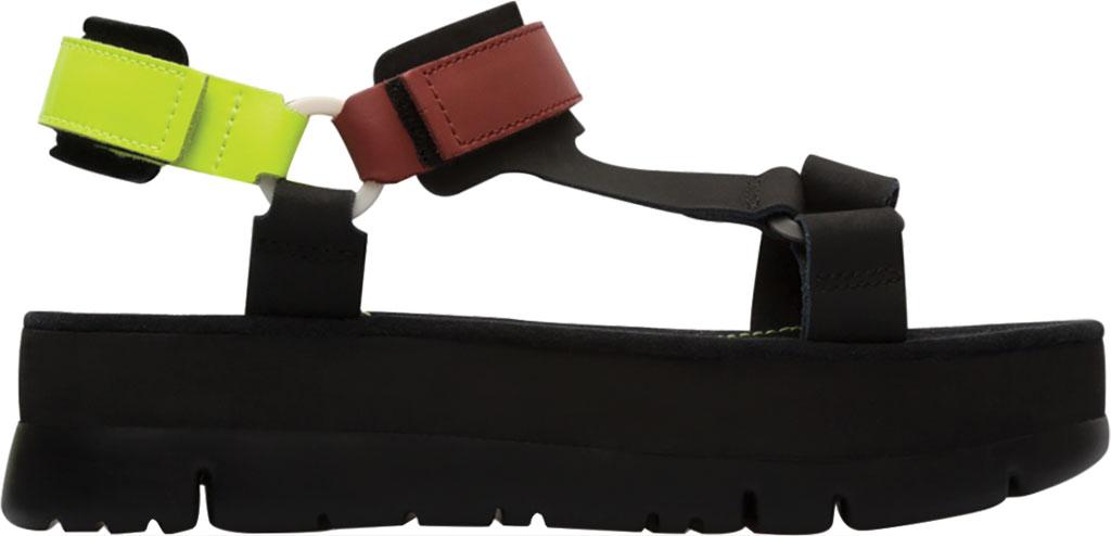 Women's Camper Oruga Up Platform Sport Sandal, Black/Multi Calfskin, large, image 2