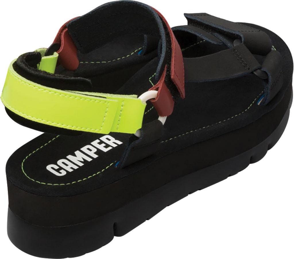 Women's Camper Oruga Up Platform Sport Sandal, Black/Multi Calfskin, large, image 3