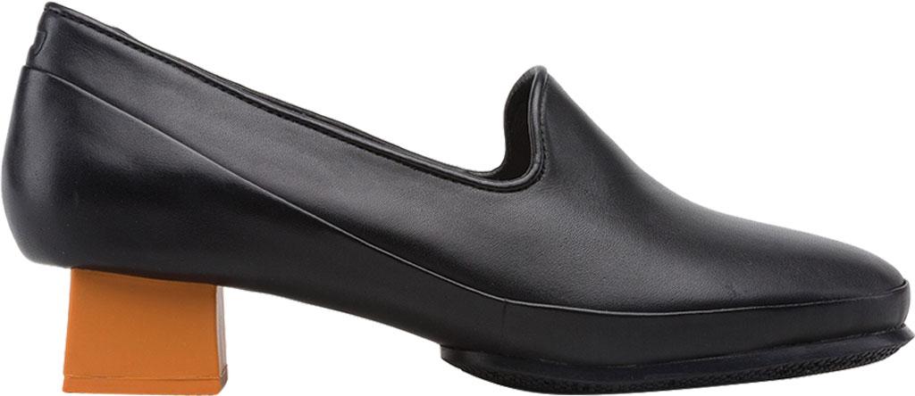 Women's Camper Twins Square Heel Loafer, Black Calfskin, large, image 2
