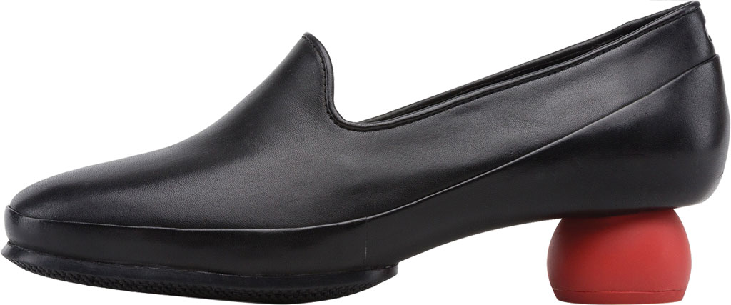 Women's Camper Twins Square Heel Loafer, Black Calfskin, large, image 3