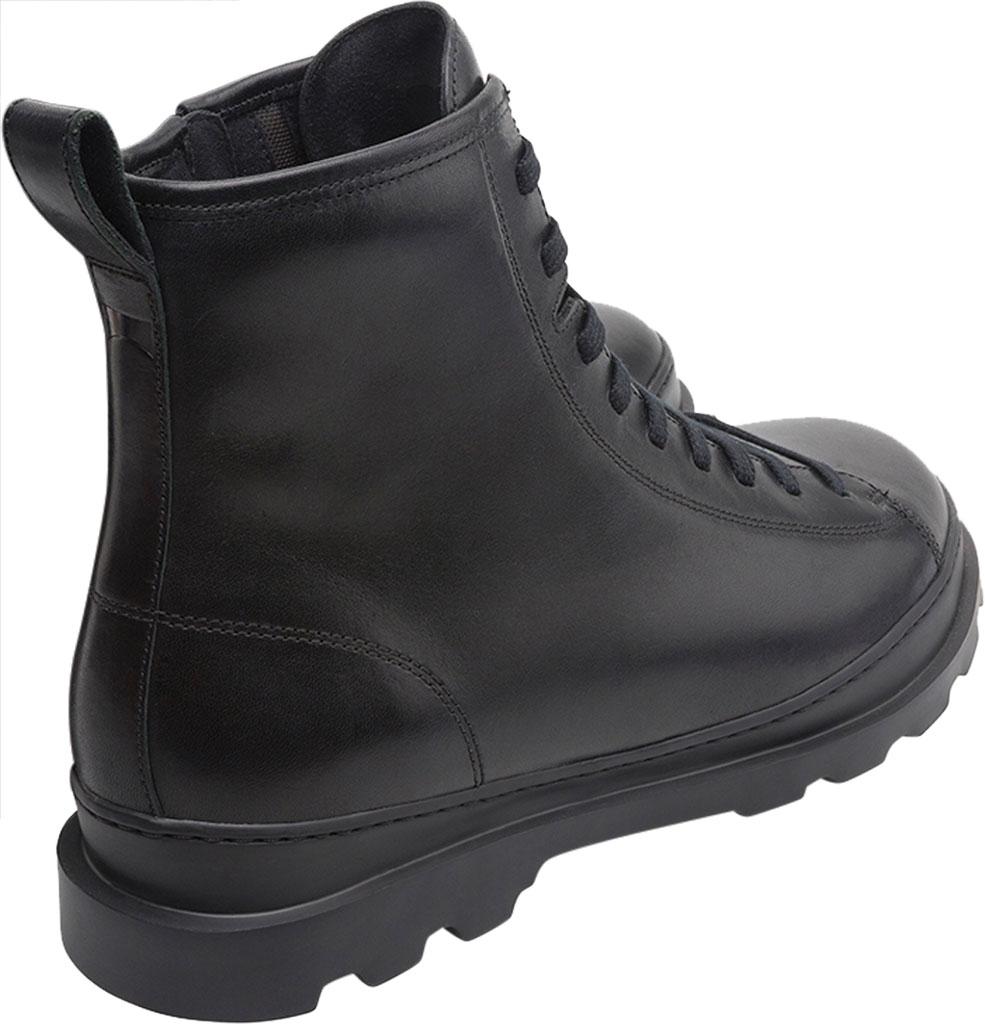 Men's Camper Brutus Combat Ankle Boot, Black Calfskin, large, image 3