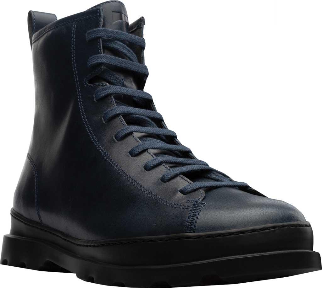 Men's Camper Brutus Combat Ankle Boot, Blue Calfskin, large, image 1