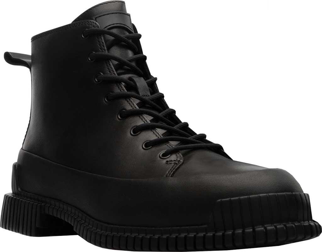 Women's Camper Pix Combat Boot, Black Calfskin, large, image 1