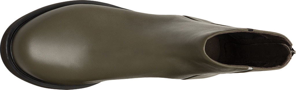 Women's Camper Twins Flat Ankle Bootie, Grey Green Sheepskin/Calfskin, large, image 5