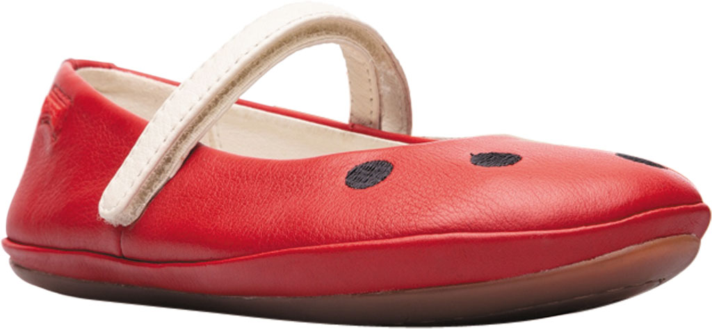 Girls' Camper Twins Mary Jane - Little Kid, Red Calf Full Grain Leather, large, image 1