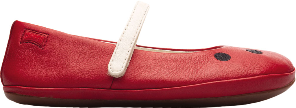 Girls' Camper Twins Mary Jane - Little Kid, Red Calf Full Grain Leather, large, image 2
