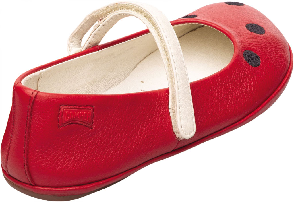 Girls' Camper Twins Mary Jane - Little Kid, Red Calf Full Grain Leather, large, image 4