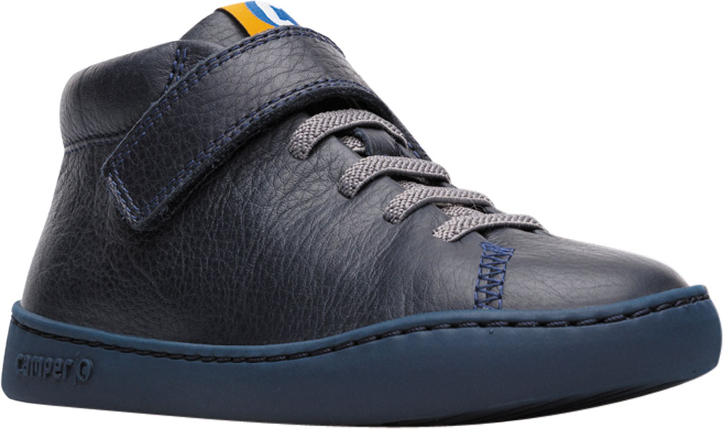 Boys' Camper Peu Touring Ankle Boot - Little Kid, Blue Calf Full Grain Leather, large, image 1