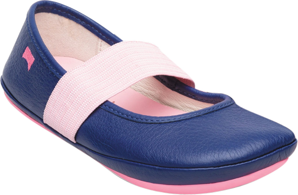 Girls' Camper Right Mary Jane - Little Kid, Blue Calf Full Grain Leather, large, image 1