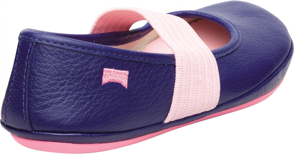 Girls' Camper Right Mary Jane - Little Kid, Blue Calf Full Grain Leather, large, image 3