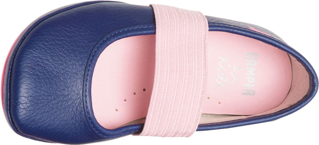 Girls' Camper Right Mary Jane - Little Kid, Blue Calf Full Grain Leather, large, image 4