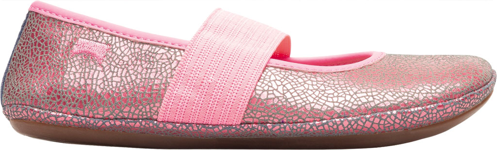 Girls' Camper Right Mary Jane - Little Kid, Pink Print Calf Full Grain Leather, large, image 2