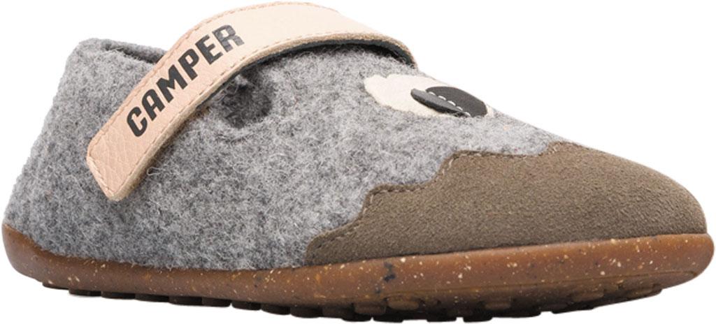 Boys' Camper Twins Slipper - Little Kid, Grey Wool Fabric/Nubuck, large, image 1