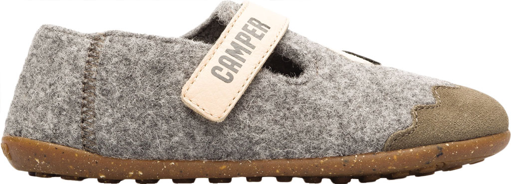 Boys' Camper Twins Slipper - Little Kid, Grey Wool Fabric/Nubuck, large, image 2