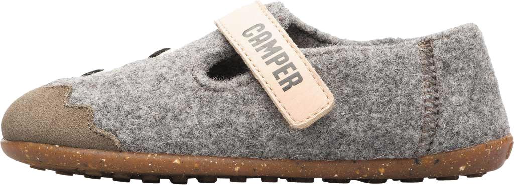 Boys' Camper Twins Slipper - Little Kid, Grey Wool Fabric/Nubuck, large, image 3
