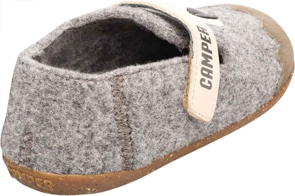 Boys' Camper Twins Slipper - Little Kid, Grey Wool Fabric/Nubuck, large, image 4