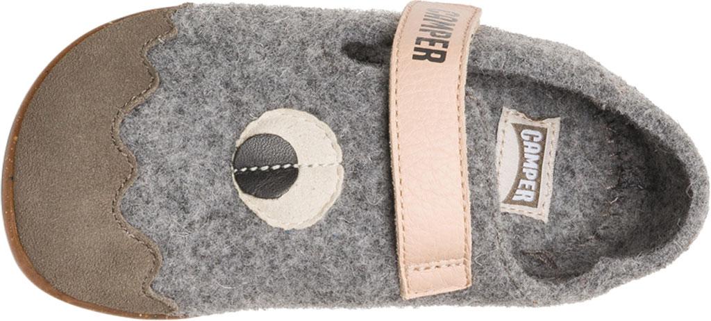 Boys' Camper Twins Slipper - Little Kid, Grey Wool Fabric/Nubuck, large, image 5