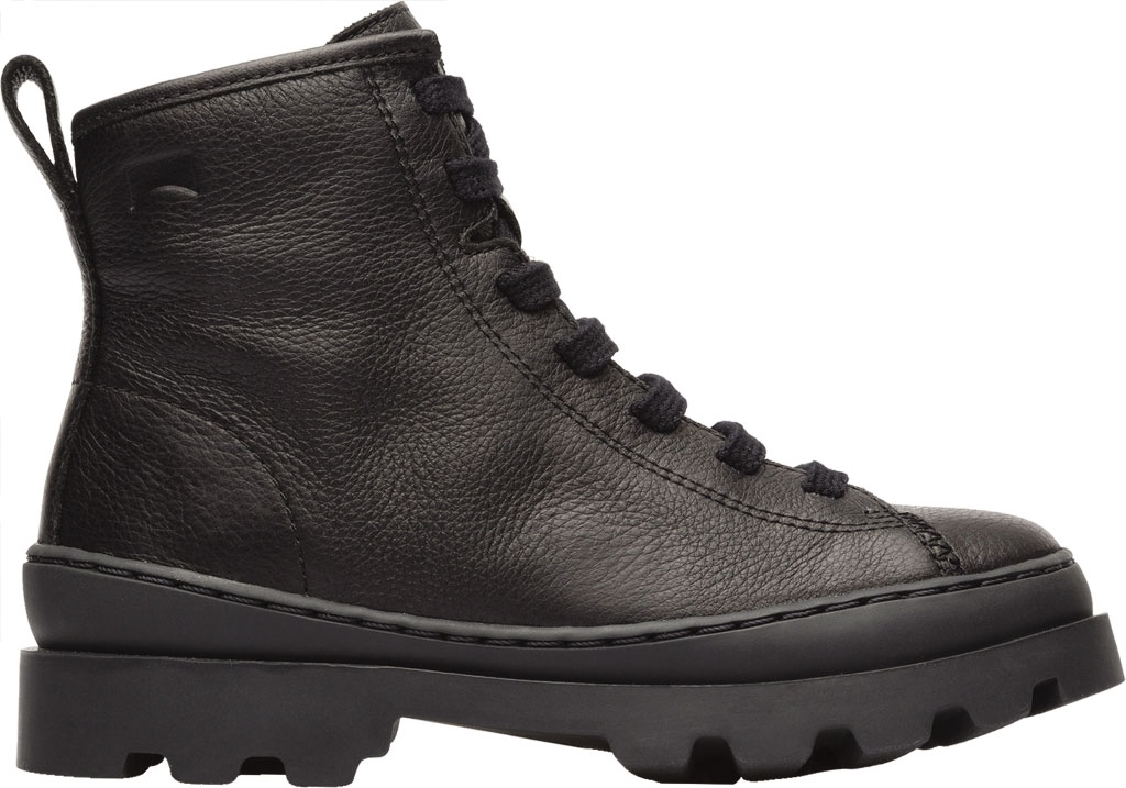 Children's Camper Brutus Ankle Boot - Little Kid, Black Calf Full Grain Leather, large, image 2