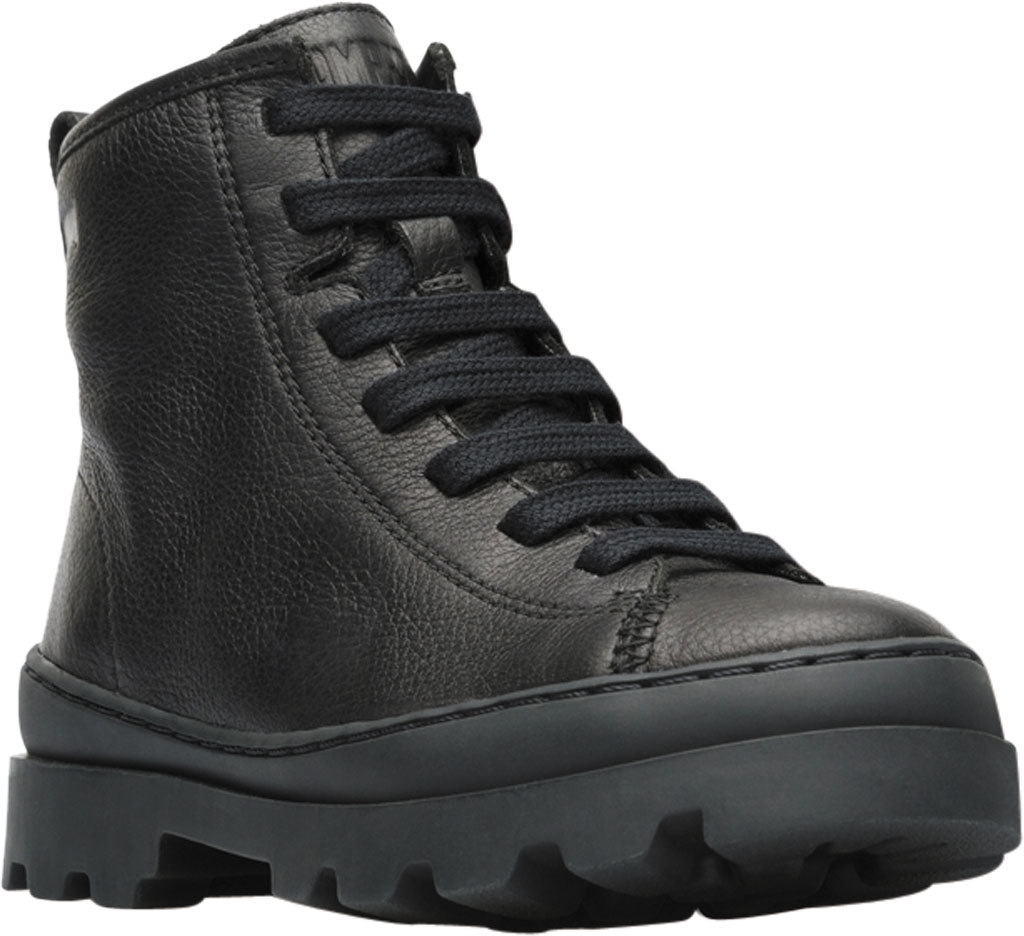 Infant Camper Brutus Ankle Boot, Black Calf Full Grain Leather, large, image 1