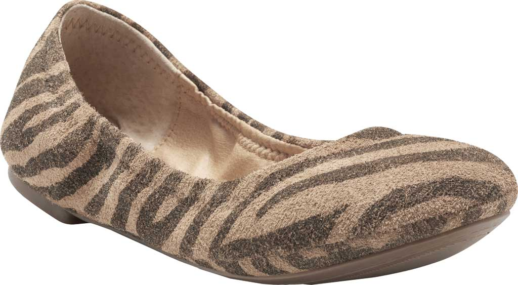Women's Lucky Brand Emmie Flat, Natural Tiger Distressed Leather, large, image 1