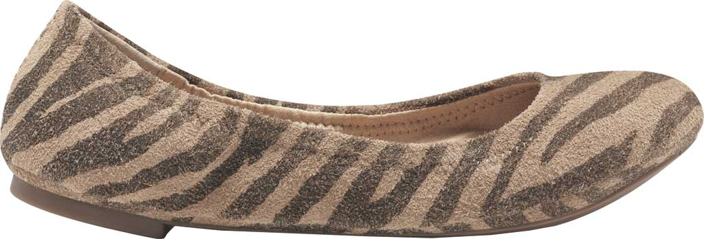 Women's Lucky Brand Emmie Flat, Natural Tiger Distressed Leather, large, image 2