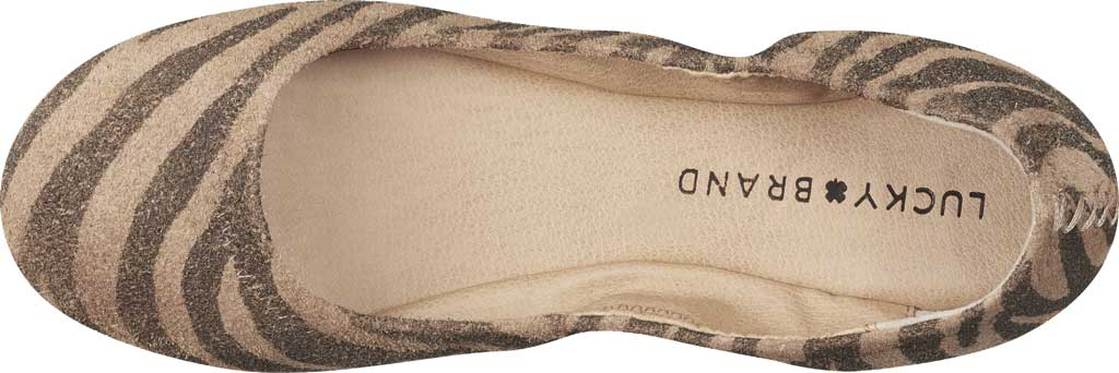Women's Lucky Brand Emmie Flat, Natural Tiger Distressed Leather, large, image 4