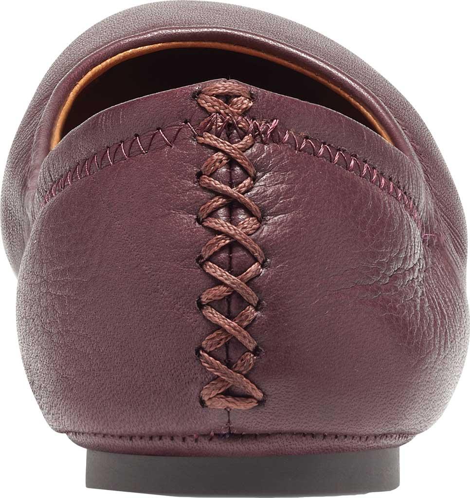Women's Lucky Brand Emmie Flat, Deep Mahogany Lamba/Cow Leather, large, image 3