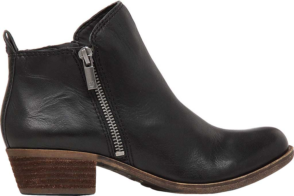 Women's Lucky Brand Basel Bootie, Black Leather, large, image 2