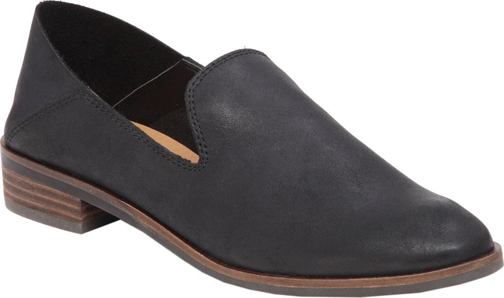 Women's Lucky Brand Cahill Loafer, Black Leather, large, image 1