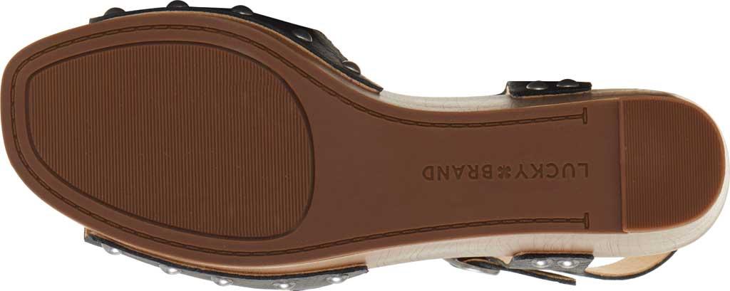 Women's Lucky Brand Zashti Wedge Sandal, Black Vegetable Tumbled Leather, large, image 6