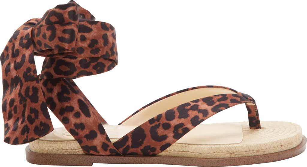 Women's Jessica Simpson Abramo Ankle Tie Flat Sandal, Natural Safari Leopard Fabric, large, image 2