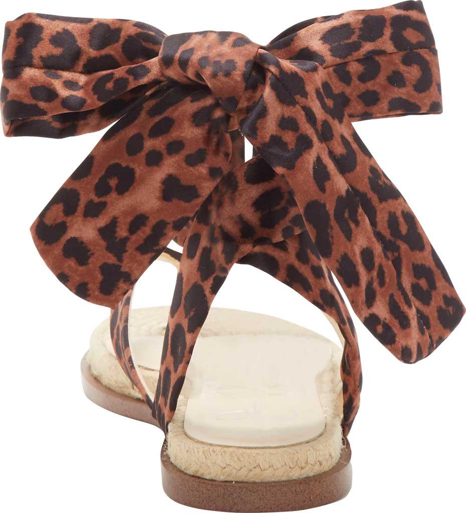 Women's Jessica Simpson Abramo Ankle Tie Flat Sandal, Natural Safari Leopard Fabric, large, image 3