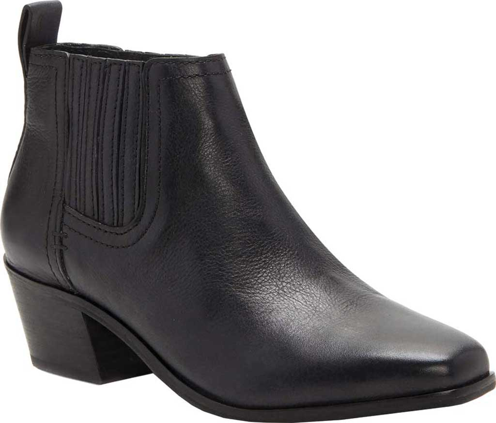 Women's Lucky Brand Idola Western Bootie, Black Marbled Nappa Leather, large, image 1