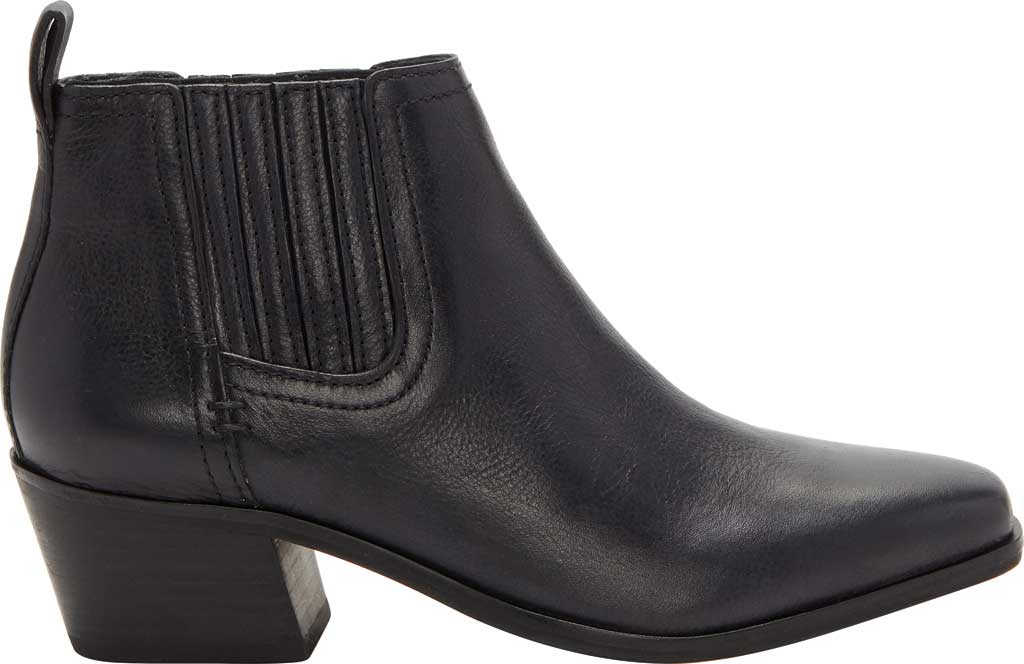 Women's Lucky Brand Idola Western Bootie, Black Marbled Nappa Leather, large, image 2