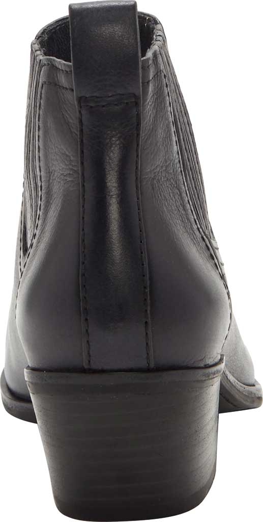 Women's Lucky Brand Idola Western Bootie, Black Marbled Nappa Leather, large, image 3