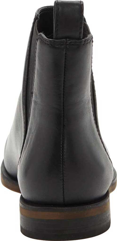 Women's Lucky Brand Haylia Chelsea Boot, Black Silky Leather, large, image 3