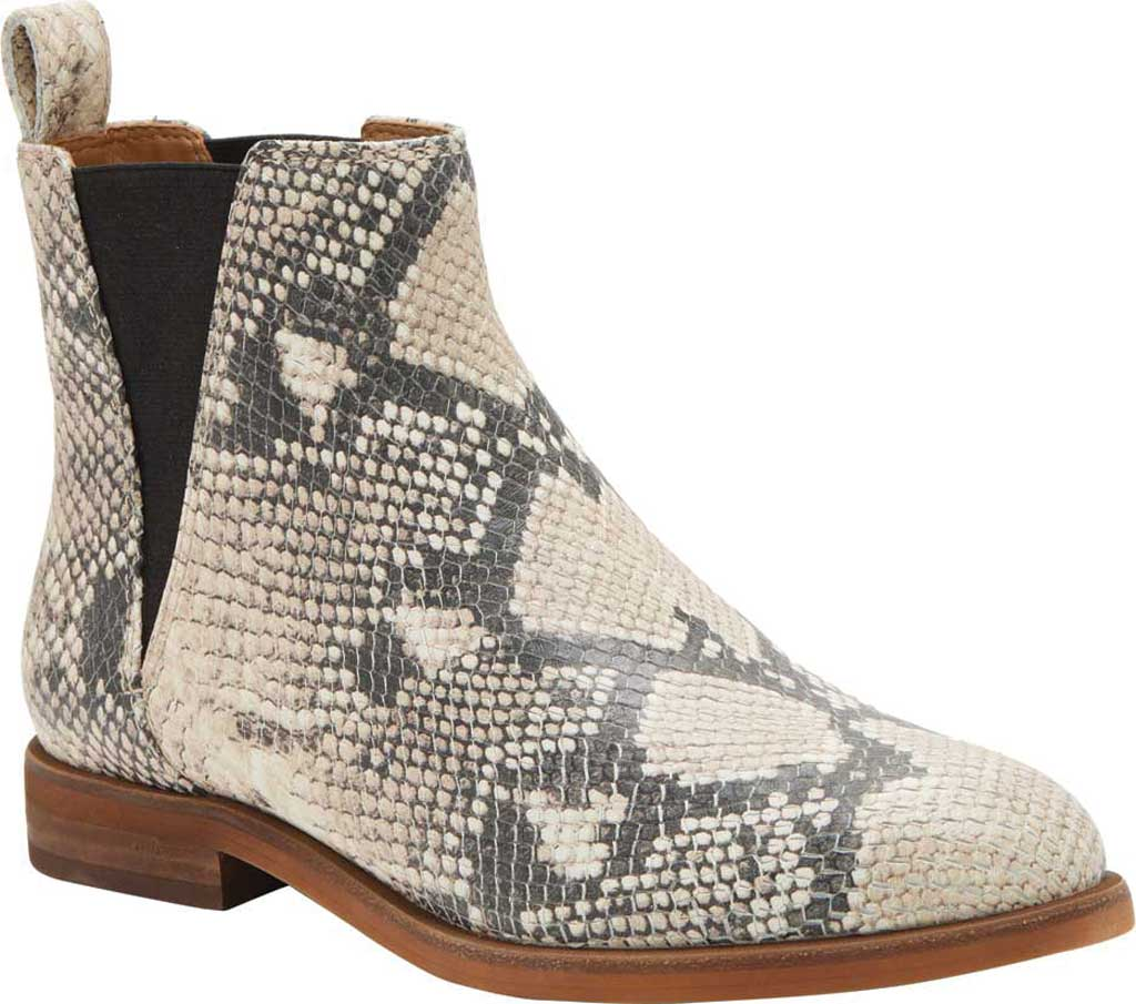 Women's Lucky Brand Haylia Chelsea Boot, Natural/Black Jame Snake Print Leather, large, image 1