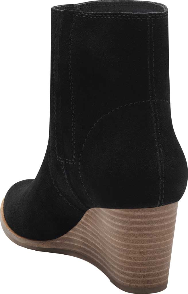 Women's Lucky Brand Wafael Wedge Bootie, Black Oiled Suede, large, image 3
