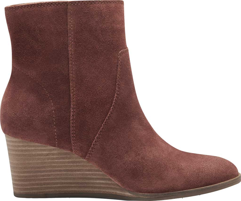 Women's Lucky Brand Wafael Wedge Bootie, Brandy Oiled Suede, large, image 2