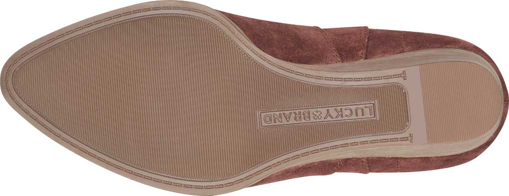 Women's Lucky Brand Wafael Wedge Bootie, Brandy Oiled Suede, large, image 5