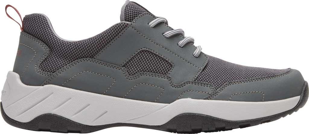 Men's Rockport XCS Riggs Lace Up Shoe, Magnet PU/Mesh, large, image 2