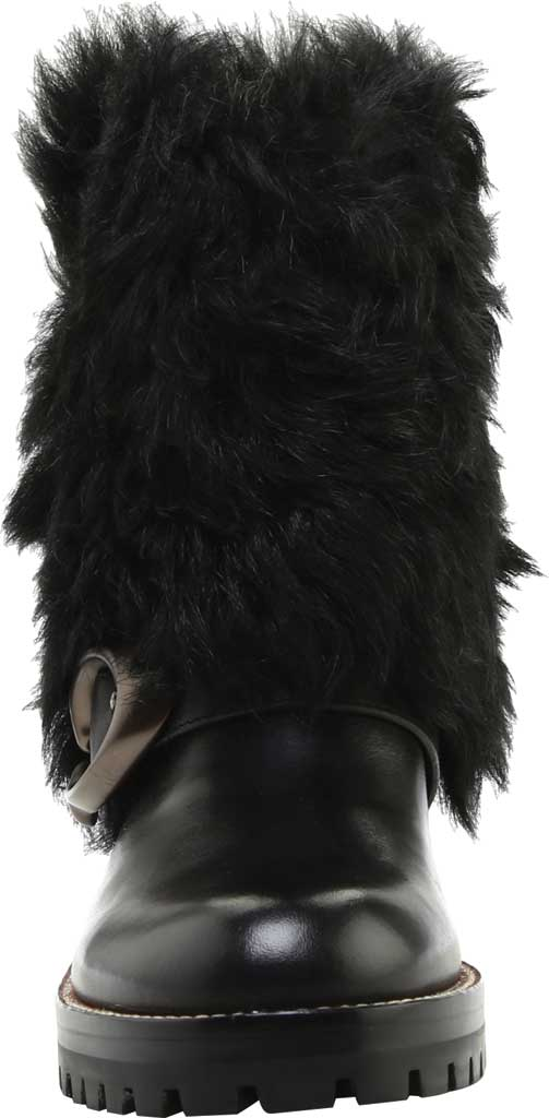 Women's Coach Leighton Shearling Bootie, Black/Black Leather, large, image 3