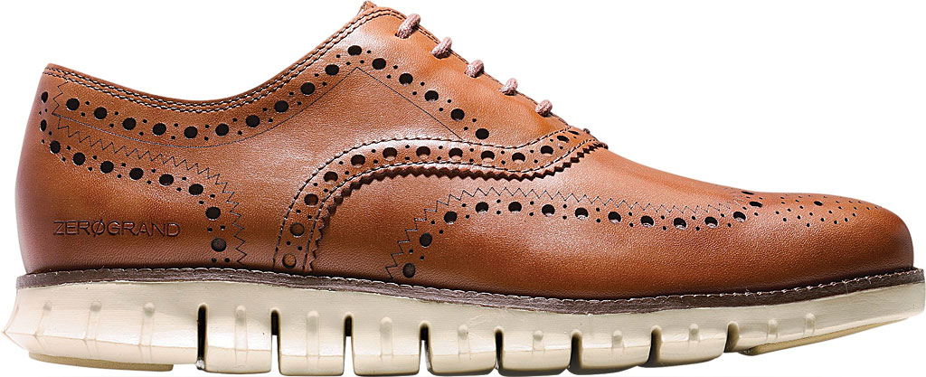 Men's Cole Haan ZEROGRAND Wingtip Oxford, British Tan Leather, large, image 2