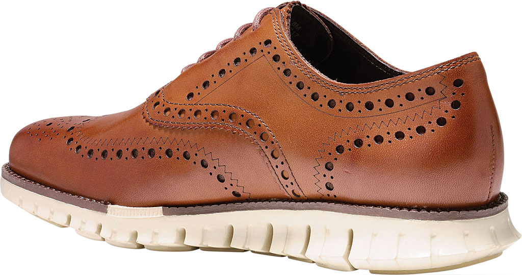 Men's Cole Haan ZEROGRAND Wingtip Oxford, British Tan Leather, large, image 3