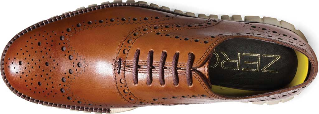 Men's Cole Haan ZEROGRAND Wingtip Oxford, British Tan Leather, large, image 4