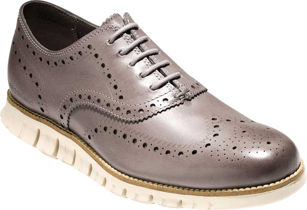 Men's Cole Haan ZEROGRAND Wingtip Oxford, Ironstone Leather, large, image 1