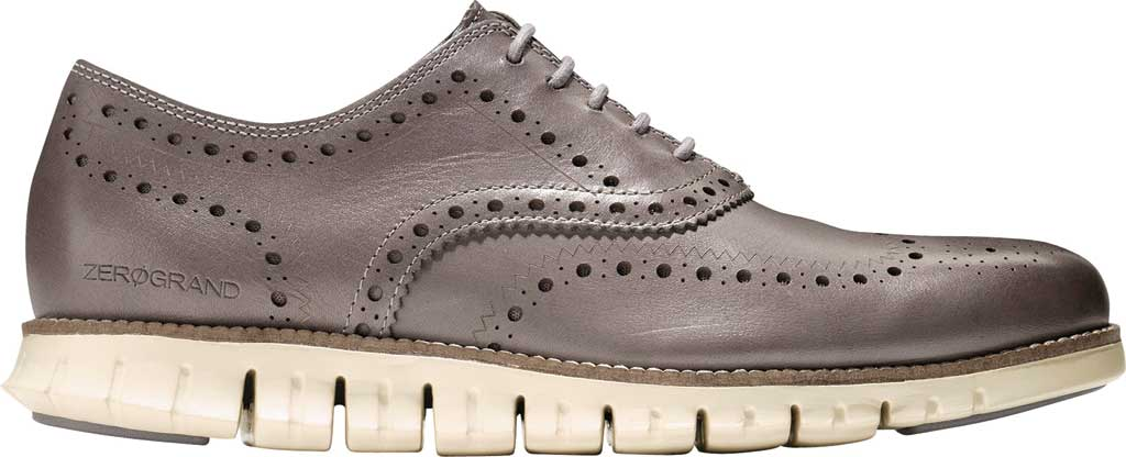 Men's Cole Haan ZEROGRAND Wingtip Oxford, Ironstone Leather, large, image 2